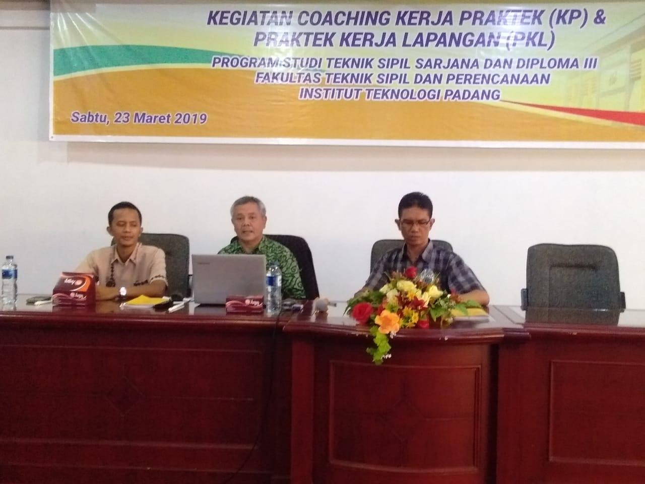 Kegiatan Coaching Praktek Lapangan Semester Genap 2018/2019 Jurusan Teknik Sipil S1