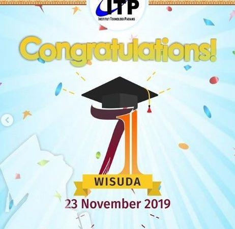 Wisuda Institut Teknologi Padang ke-71